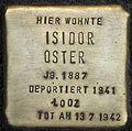 Stolpersteine Köln, Isidor Oster (Blumenthalstraße 15).jpg