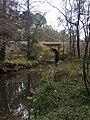Stony Creek and railroad bridge in Brumley Nature Preserve.jpg