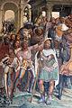 Storie di s. benedetto, 12 sodoma - Come Benedetto riceve li due giovanetti romani Mauro e Placido 07.JPG