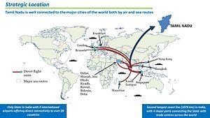 Economy of Tamil Nadu - Strategic Location of Tamil Nadu