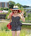 Straw Summer Hat with a Polka Dot Peplum Romper (19770472648).jpg