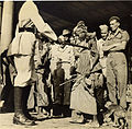 Street children with monkeys and American GIs in Calcutta in 1945.jpg