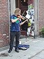 Street performer violin State Street downtown Montpelier VT July 2019.jpg