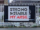 'Strong and Stable' sign in Shoreditch, London