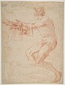 Study for a Raising of Lazarus (recto); half length study of bearded nude male figure, and a man and woman with donkey (verso) MET DP811497.jpg