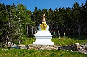 Pema Chödrön - Stupa of Enlightenment at Chodron's Gampo Abbey