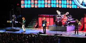 Styx (band) - Styx, 2009.  L-R: Lawrence Gowan, Ricky Phillips, James Young, Todd Sucherman, and Tommy Shaw.