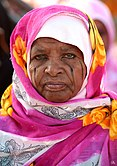 Sudanese woman with facial scarification