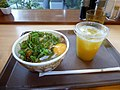 Sukiya Negitama gyudon & Minute Maid Orange.jpg