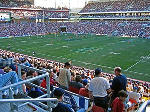 A National Rugby League game in Brisbane, Australia.