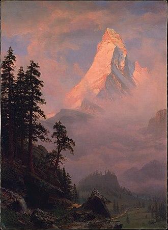 Sunrise on the Matterhorn (Albert Bierstadt) - Image: Sunrise on the Matterhorn MET DT218107