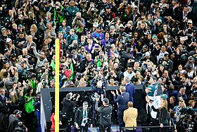 f1e821be66d Vince Lombardi Trophy presentation after the game.