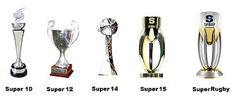 Super Rugby - The Super Rugby trophies