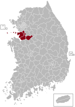 Suwon Postal central office precinct map.png