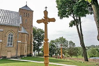 Churchyard - The churchyard of Vepriai, Lithuania