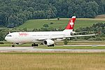 Swiss International Airlines A330 HB-JHJ at LSZH (19579597734).jpg