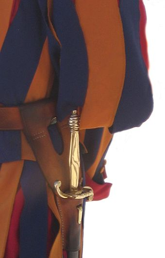The sword worn by the Pontifical Swiss Guard Sword of the Swiss Guard.jpg