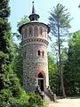 Sychrov, wieża ciśnień w zamkowym parku(Aw58).JPG
