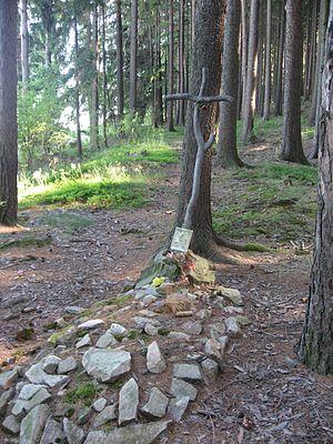 Hilsner Affair - Image: Symbolický hrob Anežky Hrůzové