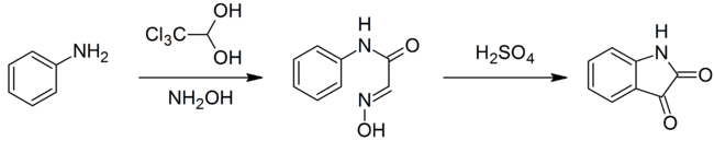 Synthesis of isatin.png