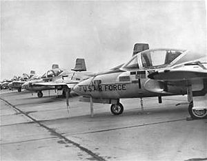 Vance Air Force Base - T-37s at Vance Air Force Base in 1971.