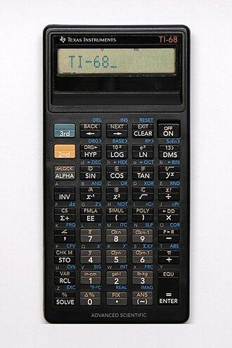 TI-68 - Texas Instruments TI-68