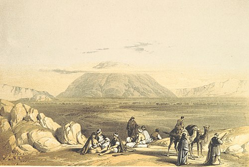 1855 painting of Mount Tabor TOBIN(1855) p261 MOUNT TABOR.jpg