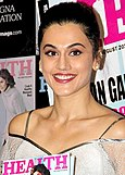 Taapsee Pannu unveils the latest issue of the magazine Health & Nutrition.jpg