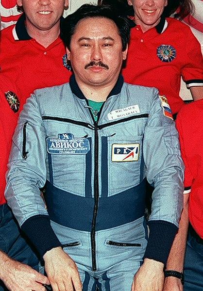 Cosmonaut Talgat Musabayev aboard the ISS, NASA photo (June 1998)Source: Wikipedia 418px-Talgat_Musabayev.jpg