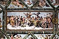 Taller de Rafael Sanzio. Pintures al fresc de la Loggia d'Amor i Psique (Escena del banquet nupcial) (1518). Vil·la Farnesina, Roma.jpg