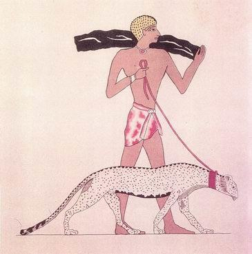Tamed Cheetah Ancient Egypt