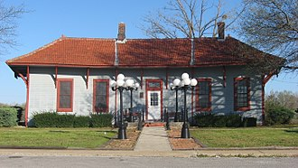 National Register of Historic Places listings in Alexander County, Illinois - Image: Tamms Depot front