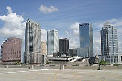 Skyline of City of Tampa