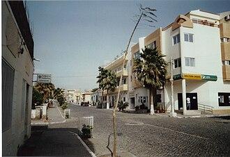 Tarrafal, Cape Verde - Tarrafal's Main street