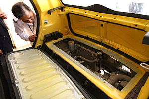 Tata Nano - Tata Nano engine in trunk that is only accessible from inside as a cost reduction feature
