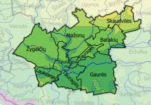 Tauragė District Municipality - Image: Taurages Rajono Seniunijos