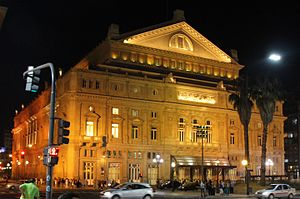 Teatro Colón - Teatro Colón at night