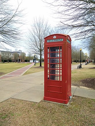 Troy University - The old telephone booth at Troy University