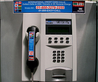 Telmex - A Telmex public pay phone
