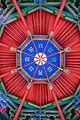 Temple of Marquis Wu (Wuzhang Plains) pavilion ceiling2 2016 September.jpg