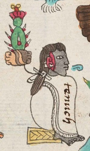 Tenoch - Depiction of Tenoch in the Codex Mendoza.