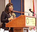 Terri Sewell speaking at Eggs and Issues in Montgomery, Alabama.jpg
