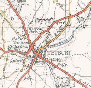 Tetbury - A map of Tetbury from 1946