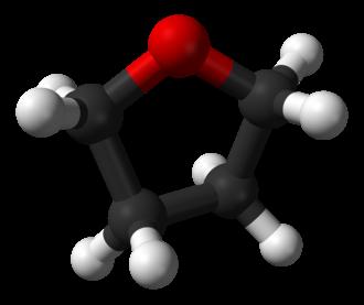 Tetrahydrofuran - Image: Tetrahydrofuran 3D balls