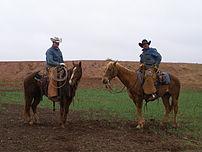 Modern Texas cowboys.