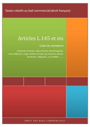 Description de l'image Textes relatifs au bail commercial (droit français).pdf.