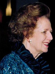 November 22: Margaret Thatcher, the UK's first female Prime Minister, resigns after 11 years. ThatcherProfile.JPG