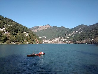 Nainital - Scenic view of the Nainital from Tallital, the lower end of the lake.