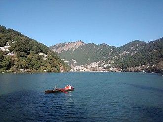 Nainital Lake - Scenic view of Nainital and The Lake from Tallital