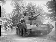 Colonne de char Cruiser Mk IV du 3rd Royal Tank Regiment en exercice